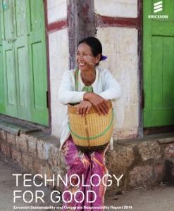 Ericsson 2014 CSR okladka raportu